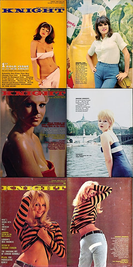 Knight (3 vintage adult magazines, 1966-67)