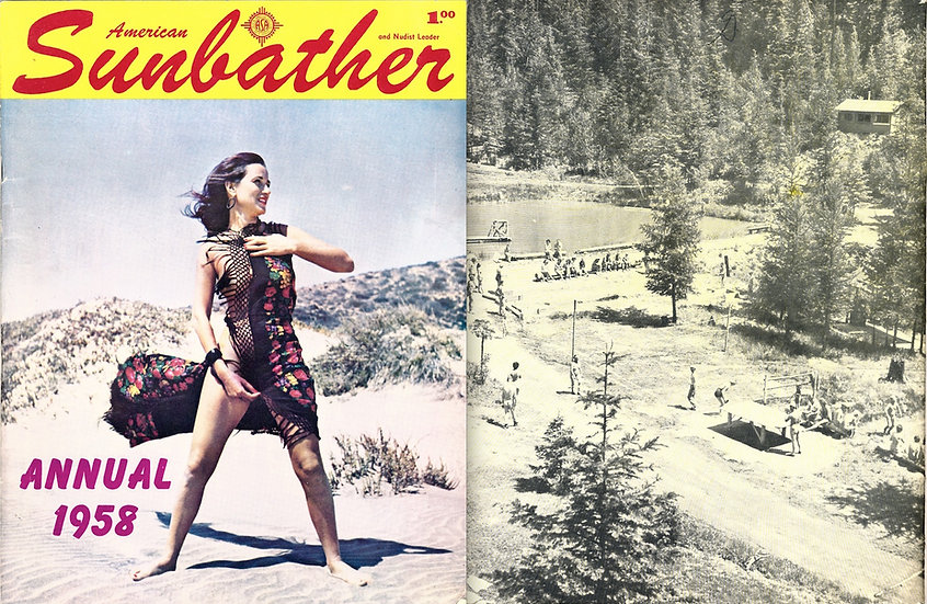 American Sunbather [and Nudist Leader] (Vintage Nudist magazine, 1958 Annual)