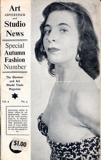 Art Advertiser and Studio News (vintage British pinup magazine, 1959)