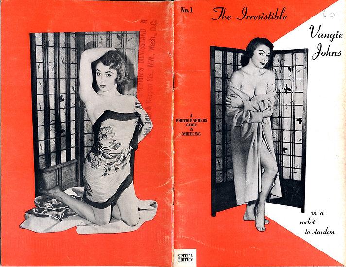 The Irresistible Vangie Johns (vintage pinup digest magazine, 1950s)