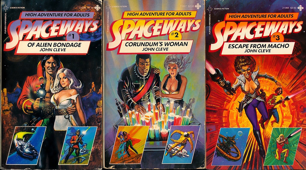 Spaceways (Vintage adult science fiction paperbacks, first 3 titles)
