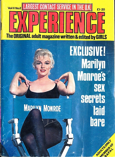 Experience (Vintage adult British digest magazine, Marilyn Monroe cover, 1978)