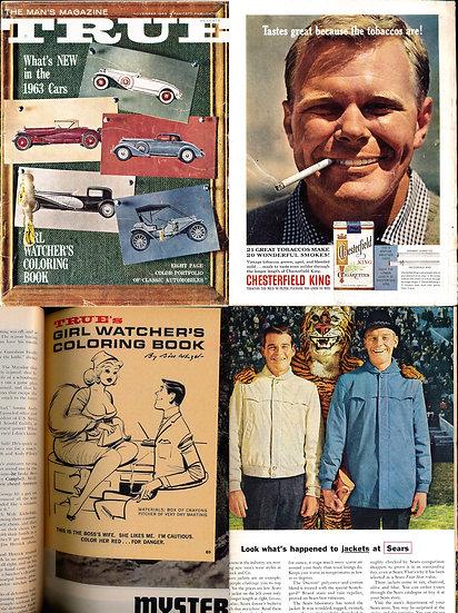 True [The Man's Magazine] (Vintage adventure magazine, Nov 1962)