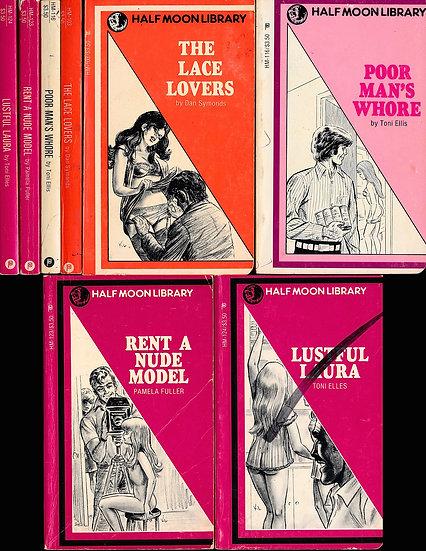 Half Moon Library (4 vintage adult paperbacks, 1983)
