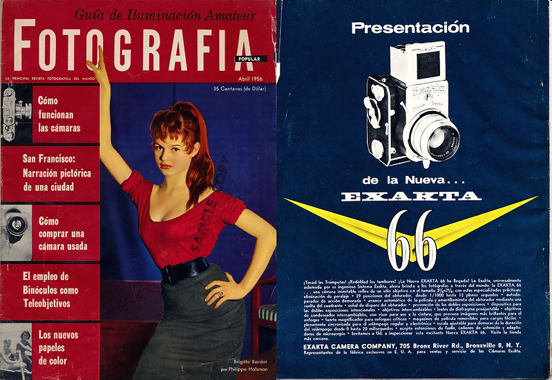 Fotografia Popular (Vintage Spanish-American photography magazine, 1956)
