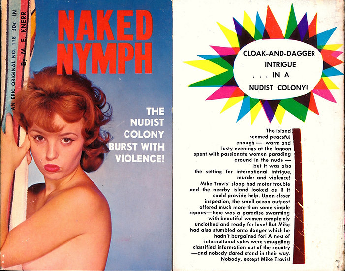 Naked Nymph (Vintage adult paperback, Mickey Jines cover, 1961)