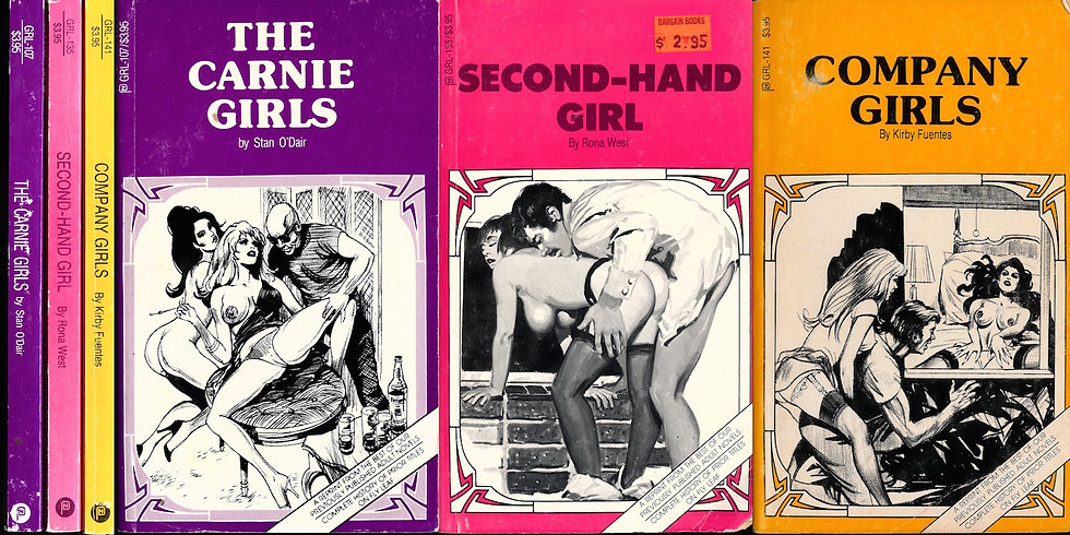 GRL series (3 vintage adult paperbacks, 1987-89)