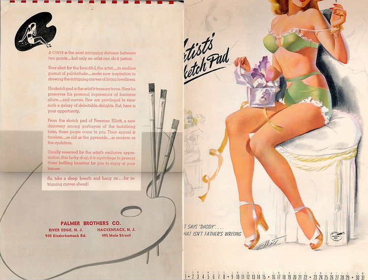 Palmer Brothers & Co. (Vintage pin-up calendar, 1949)