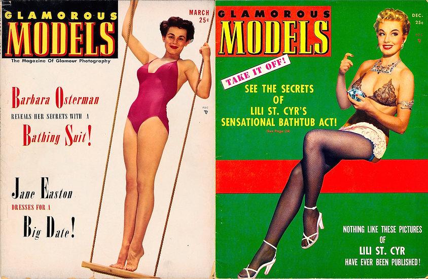 Glamorous Models (2 vintage pin-up magazines, 1952)