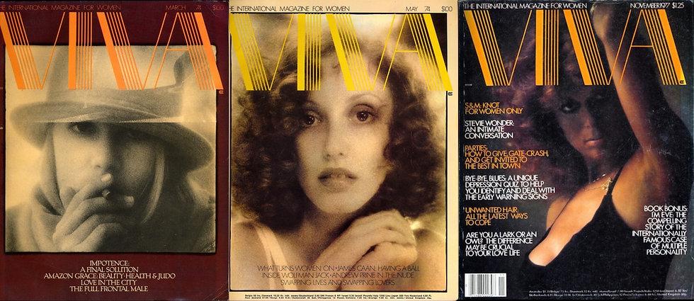 Viva [The International Magazine for Women] (3 adult magazines, 1974, 1977)