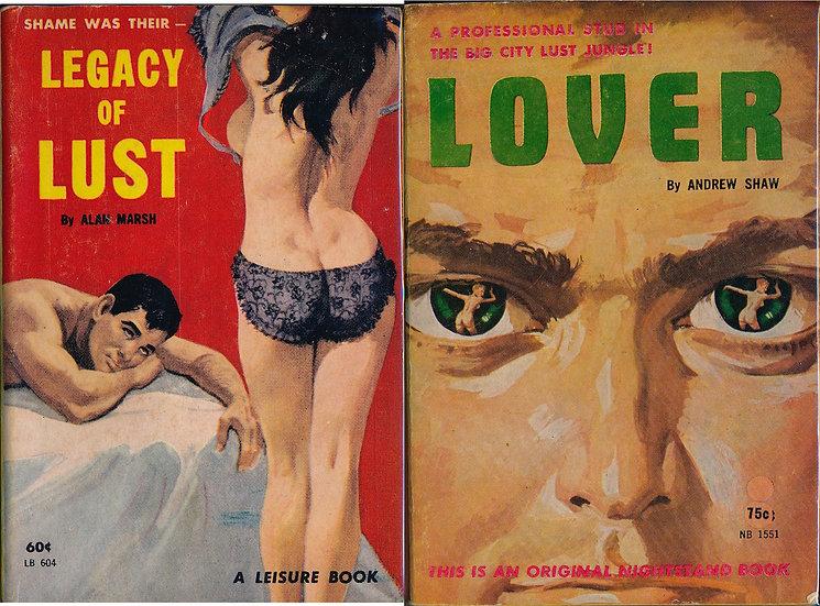 Lover / Legacy of Lust (2 vintage adult paperbacks)