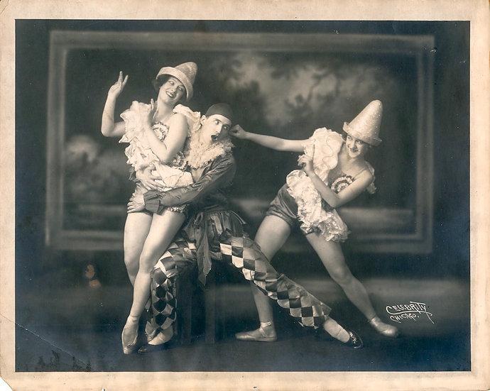 Dancer Nicholas Tsoukalas female partners (2 Original photographs, 1 SIGNED)