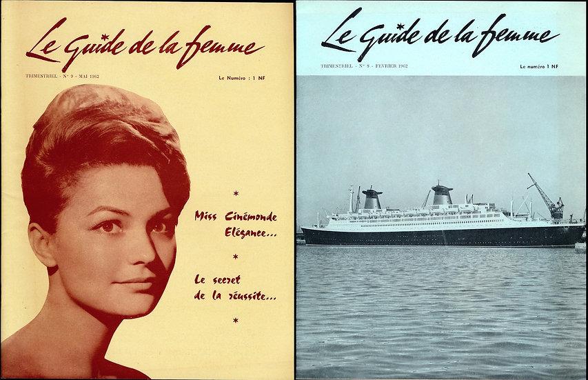 Le Guide de la femme (2 vintage French style magazines, 1962)
