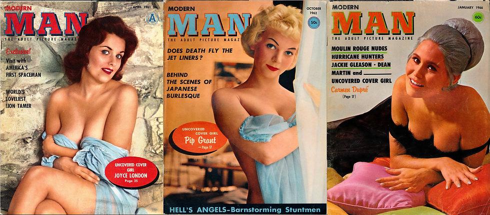 Modern Man (3 vintage adult magazines, 1961-66)