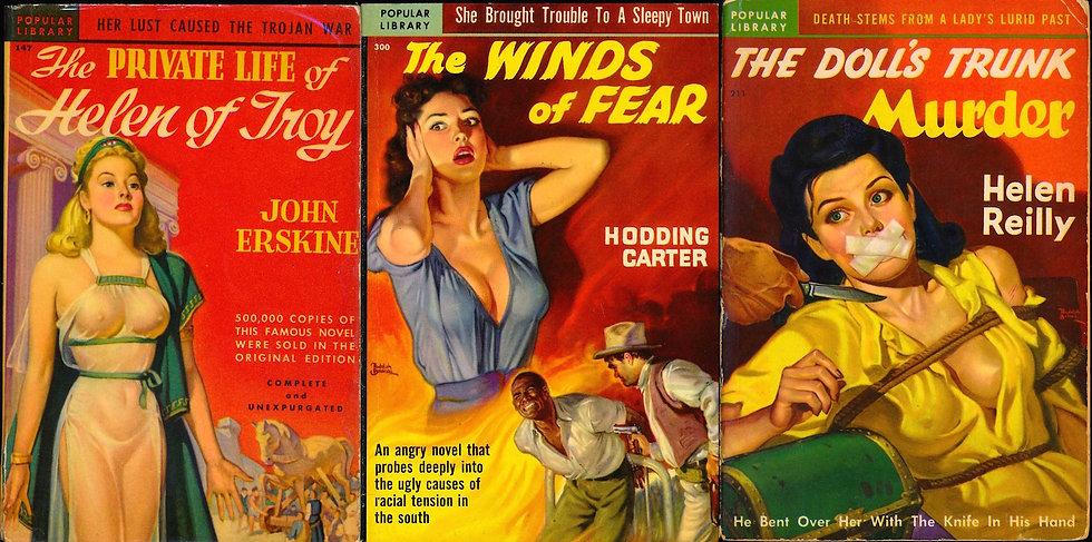 Belarski, cover art (3 vintage paperbacks, 1950s)