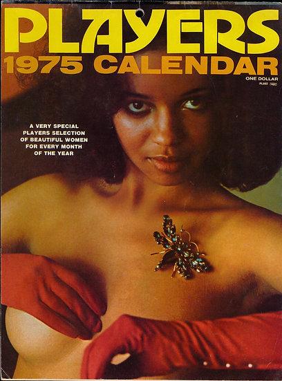 Players, 1975 Calendar (Vintage adult calendar)