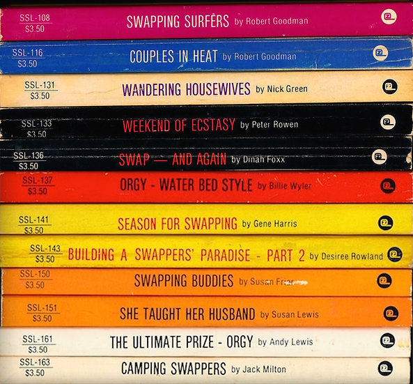 Swap & Swing Library (12 vintage adult paperbacks, 1984-85)