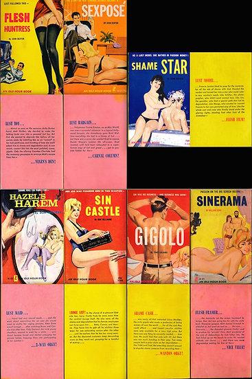 Greenleaf Classics: Idle Hour (5 vintage adult paperbacks, 1964-66)