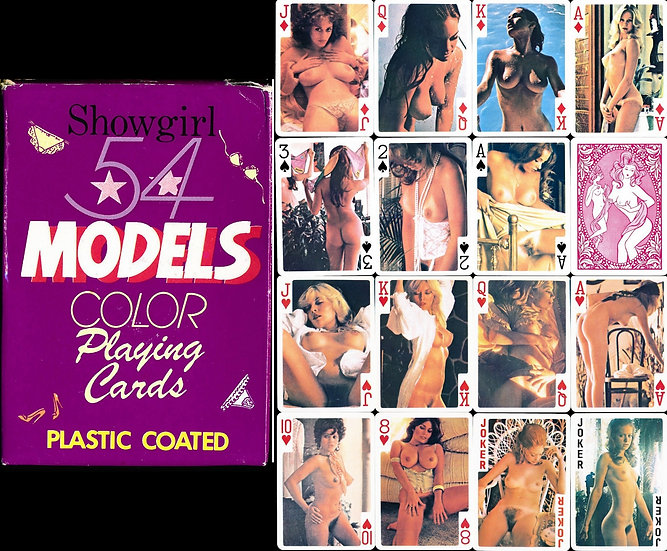 Showgirl: 54 Models (Vintage adult playing cards, 1970s-80s)