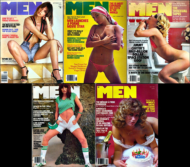 Men (5 vintage adult magazines, 1977-80)