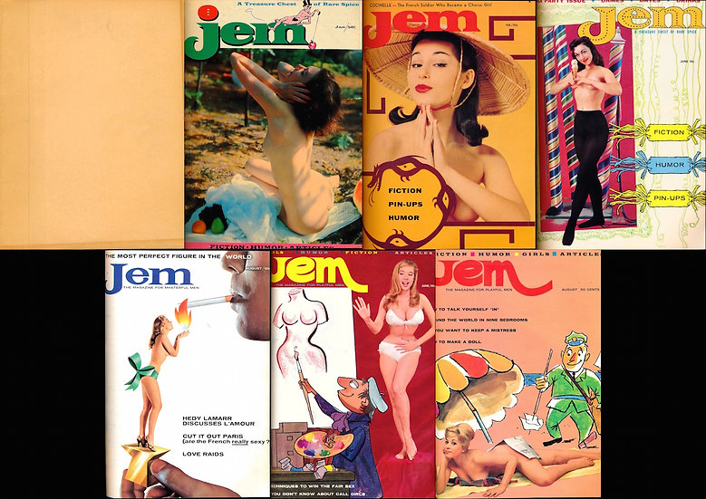 Jem [A Treasure Chest of Rare Spice] (7 adult magazines bound together, 1957-60)