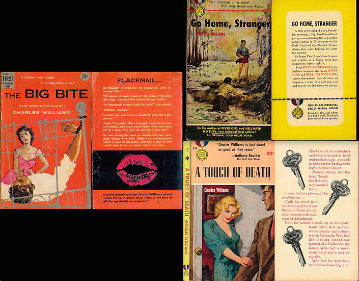 The Big Bite, and Go Home, Stranger, and A Touch of Death (3 vintage paperbacks)
