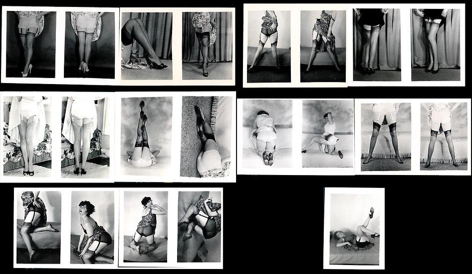 Heels, Hose, Garters (11 original mail-order pinup photographs, 1950s)