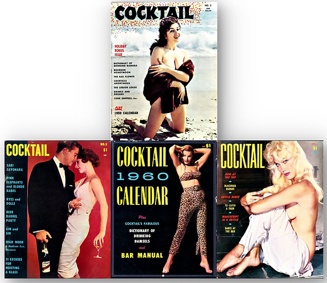 Cocktail (3 Vintage adult magazines, 1 calendar)