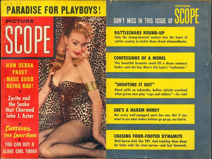 Picture Scope (Vintage pinup digest magazine, Nov 1955)