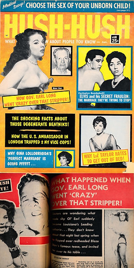 Hush-Hush (Vintage tabloid magazine, Blaze Starr cover, 1960)