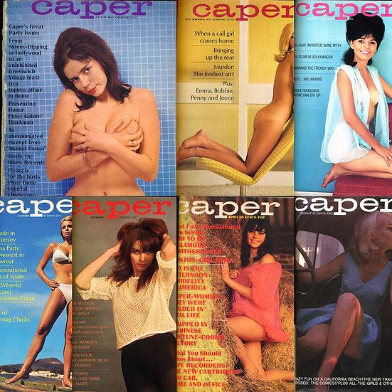 Caper (7 vintage adult magazines bound together, 1965-67)