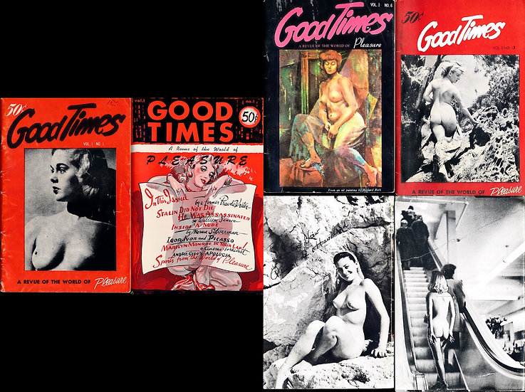 Good Times: A Revue of the World of Pleasure (16 vintage digest pinup magazines)