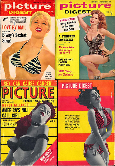 Picture Digest [formerly MAGAZINE DIGEST] (3 pin-up digest magazines, 1955-57)