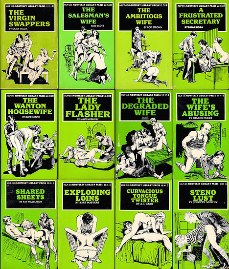 Monterey Library Press (12 vintage adult paperbacks, 1977-80)