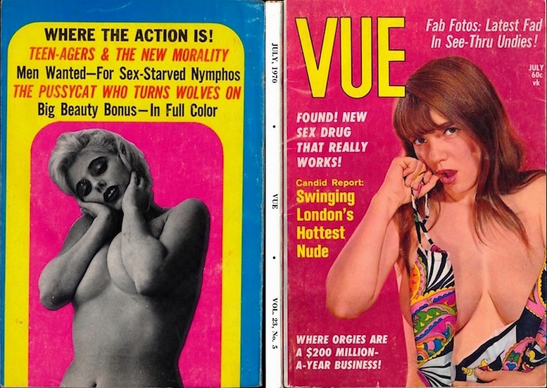Vue (Vintage digest pinup magazine, Michelle Angelo feature, 1970)
