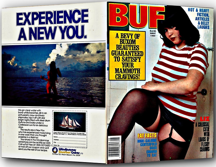 BUF [Big Up Front] (Vintage adult magazine, August 1987)