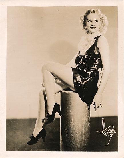 Murray Korman photographer Blonde in Latex dress (Original photograph, 1940s)