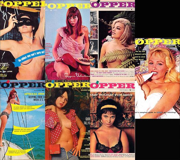 Topper (7 vintage adult magazines bound together, 1965-67)