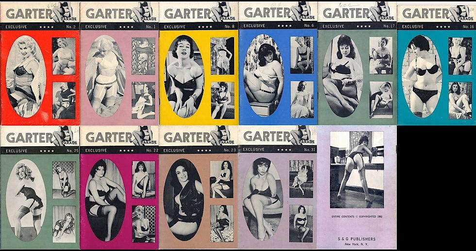 Garter Parade (10 vintage adult digest magazines, 1960-62)
