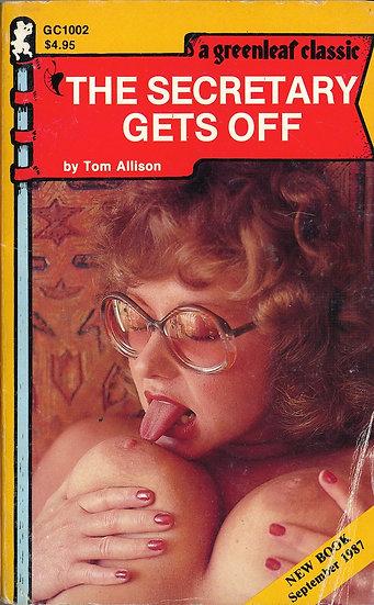 The Secretary Gets Off (Vintage Paperback, buxom cover model, 1987)