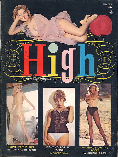High (Vintage magazine, Brigette Baum cover model, 1959)