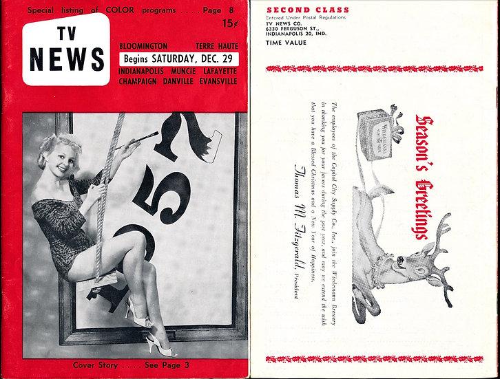 TV News (Vintage digest Television magazine, Greta Thyssen cover, 1956)