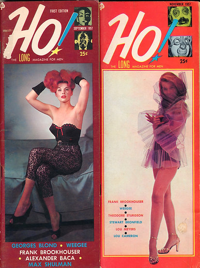 Ho! [The Long Magazine for Men] (2 vintage pin-up magazines, 1957)