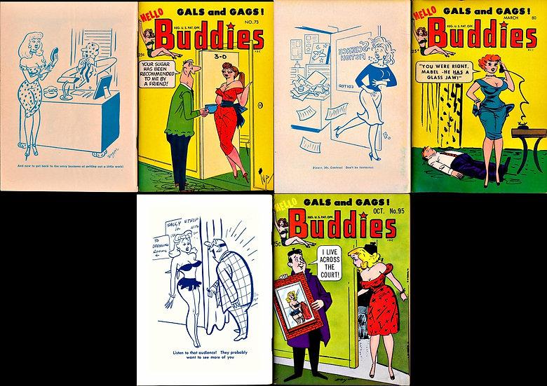 Hello Buddies (3 vintage illustrated digest magazines)