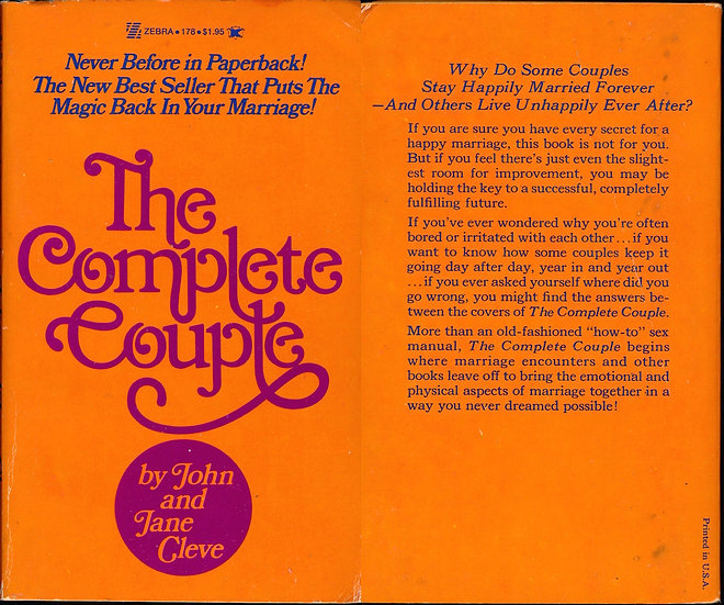 The Complete Couple (vintage adult paperback)