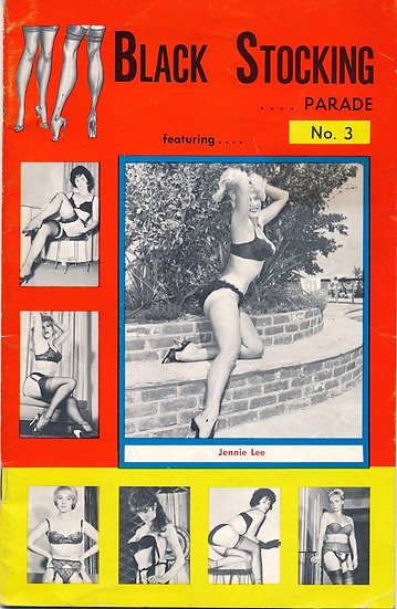 Black Stocking Parade (Vintage digest magazine, Jennie Lee cover model)