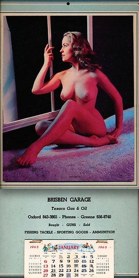 Diane Webber aka Marguerite Empey (vintage nude calendar, 1963)