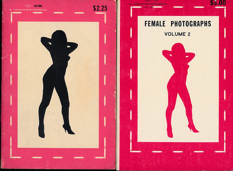 Collectors Publications: Female Photographs (2 vintage adult paperbacks, 1967)