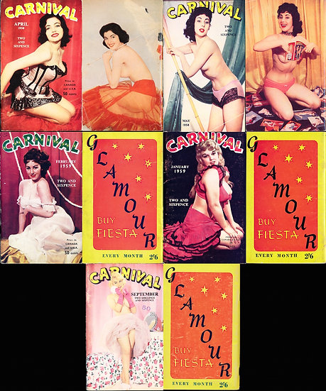 Carnival (5 vintage British pin-up magazines, 1958-59)
