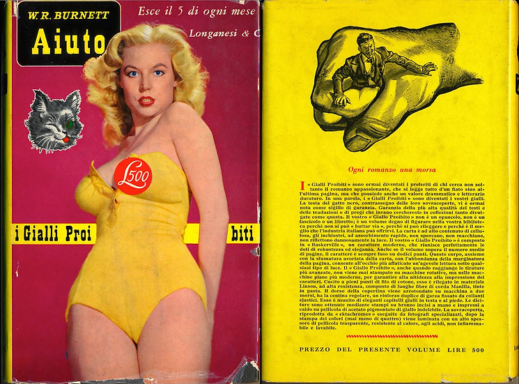 Aiuto [Underdog] (Vintage Italian hardcover edition, Betty Brosmer cover)